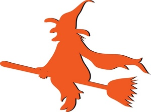 300x223 Witch Clipart Image