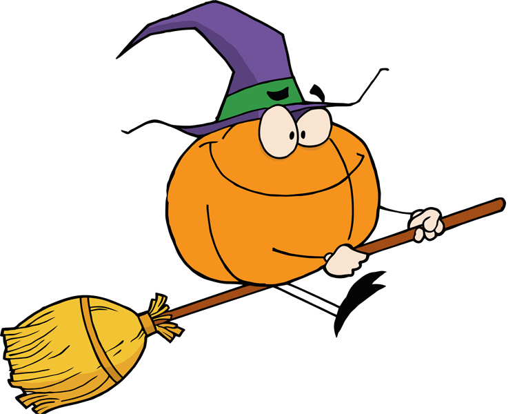 750x600 Witch On A Broomstick Clipart