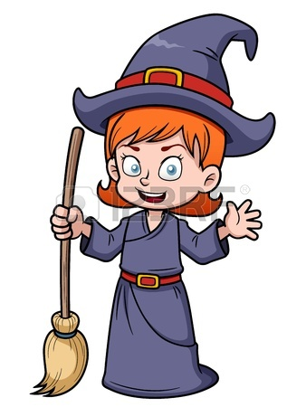 338x450 Cartoon Wicked Witch Flying On A Broomstick Royalty Free Cliparts