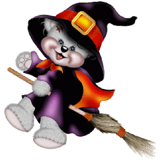 320x320 Creddy Teddy Witch On Broom Halloween Clip Art Clip Art