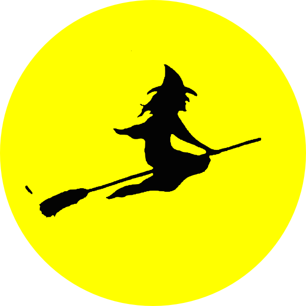 600x600 Witch Flying Clip Art