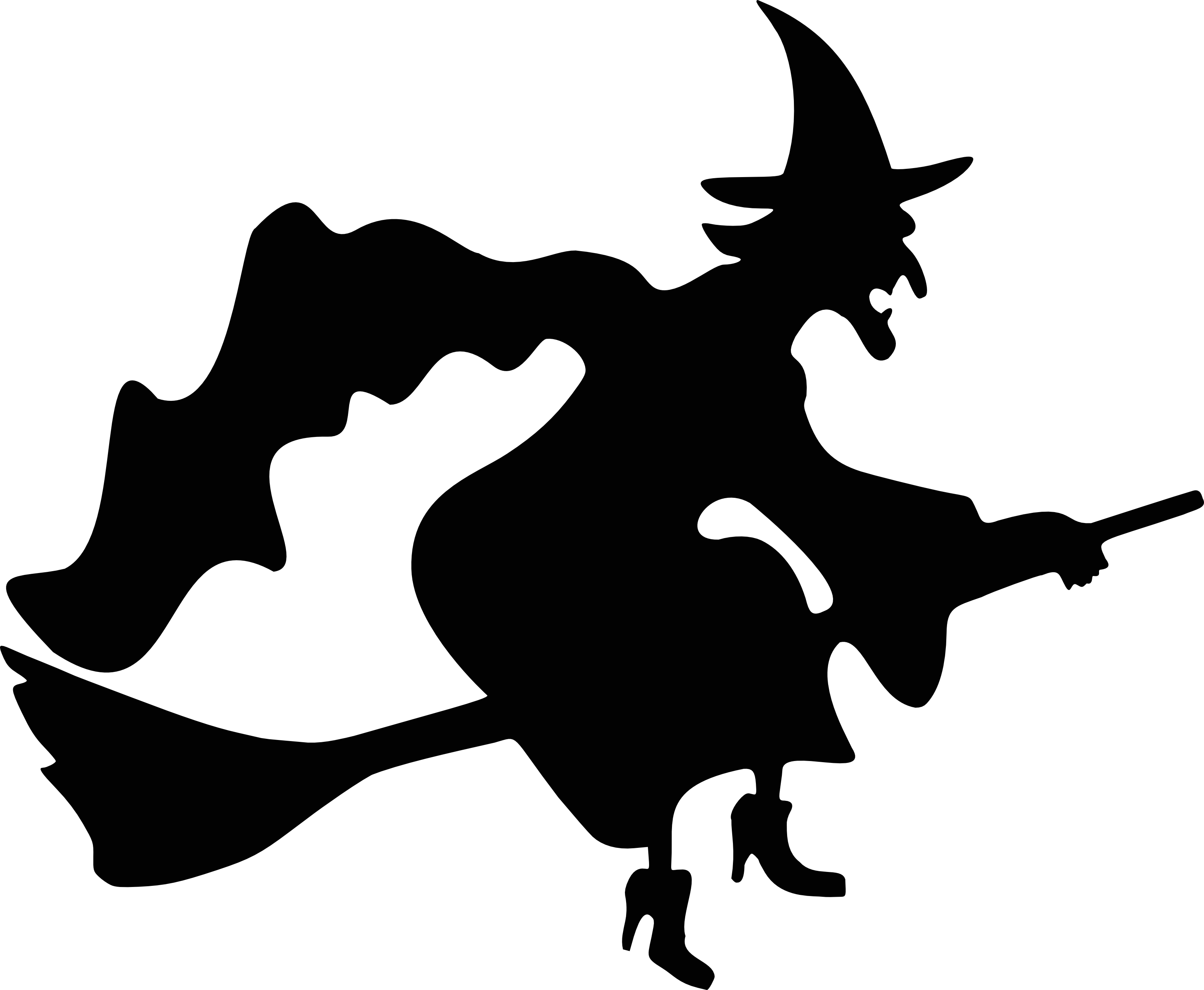 3200x2633 Witch On Broom Clipart