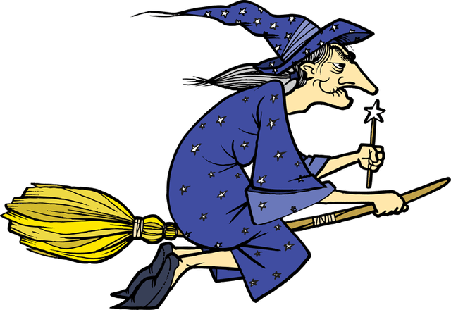 640x440 Witch Clipart Blue