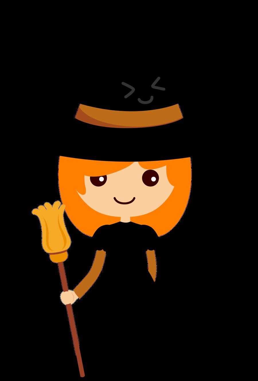 900x1330 Witch Clipart Orange