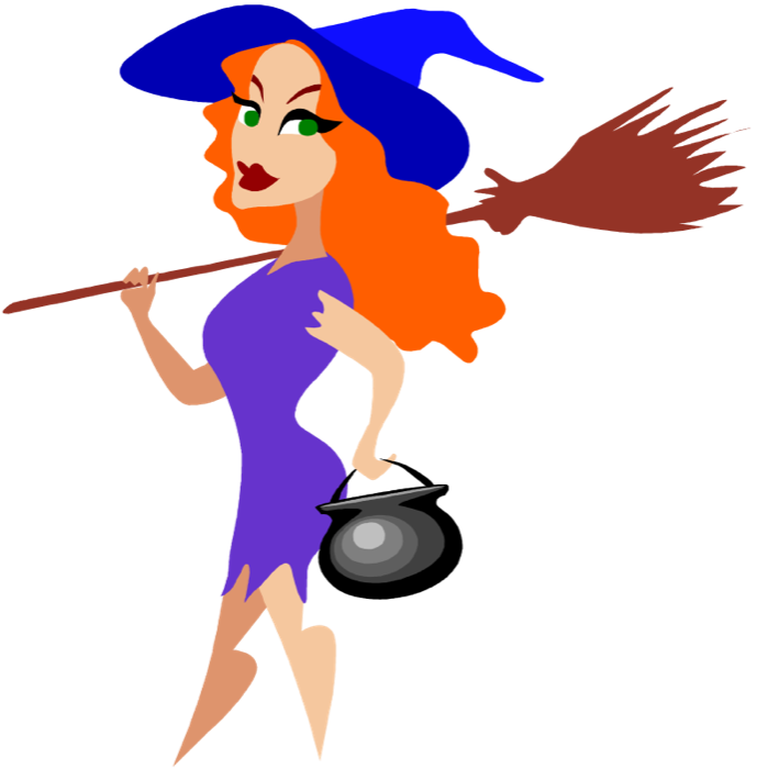 689x700 Witch On A Broom Stick Clip Art Free Vector In Open Office Drawing