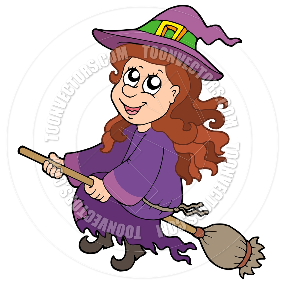 940x940 Cute Witch On Broom Clipart