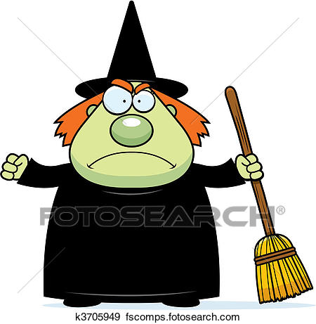 450x461 Clip Art Of Angry Witch K3705949