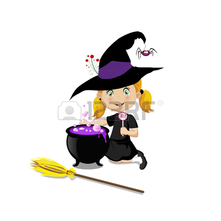 Witch On Broomstick Clipart