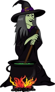 178x300 Halloween Witch Clipart