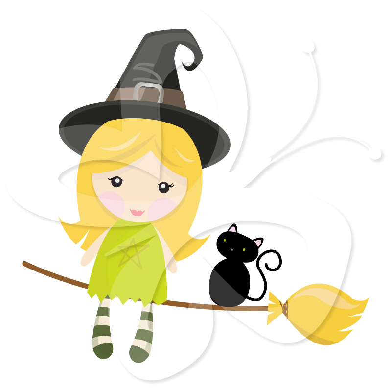 801x800 Little witch clipart