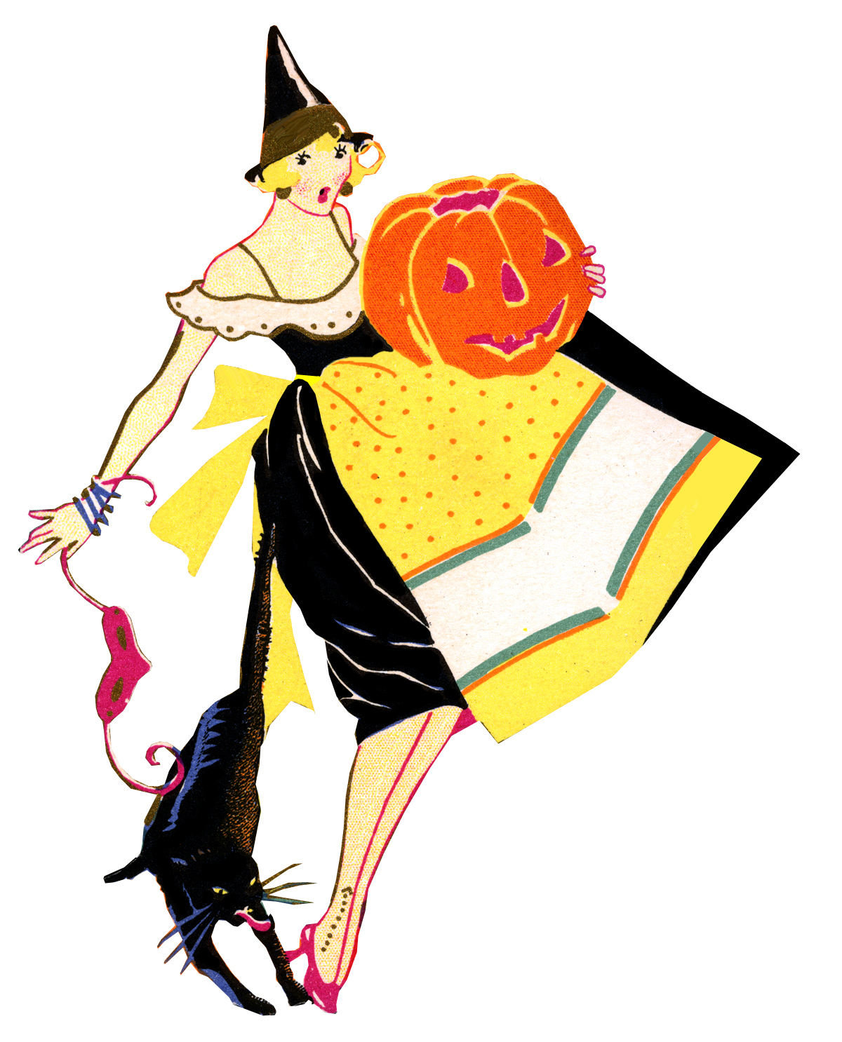 1200x1486 Vintage Witch Clipart