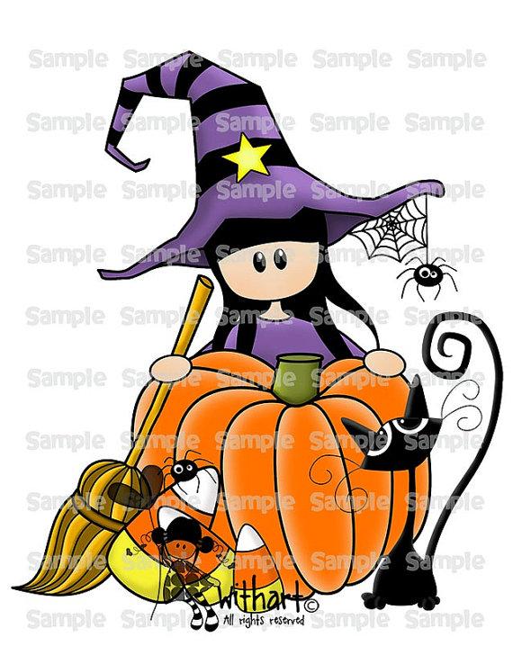 570x738 Witch Pumpkin Cat Nina Dolls 0047 Clip Art Set Images Por Withart