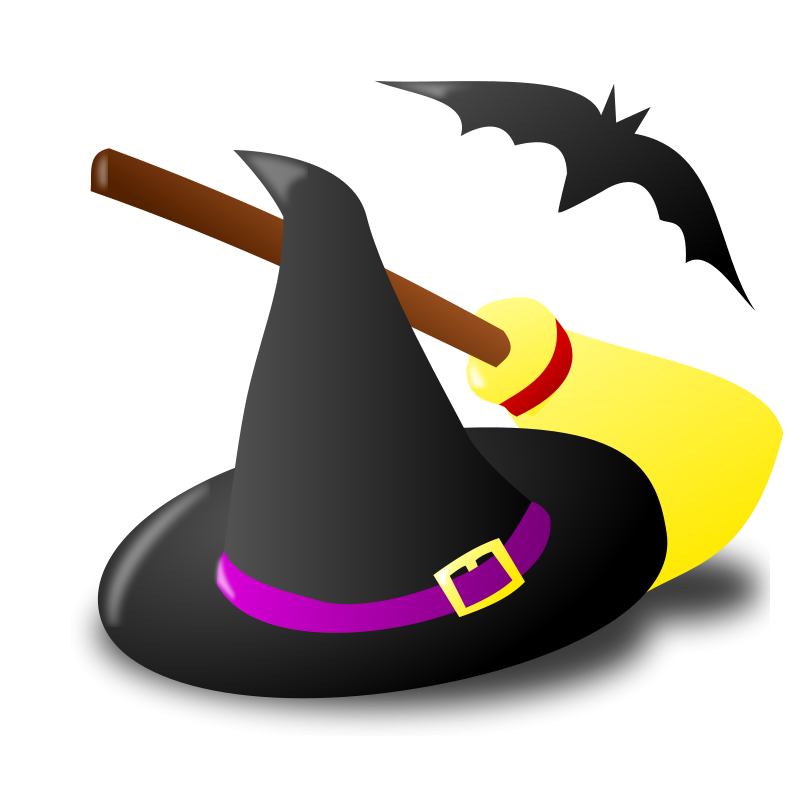 800x800 Graphics Of Halloween Witches And Sorceress' Clip Art