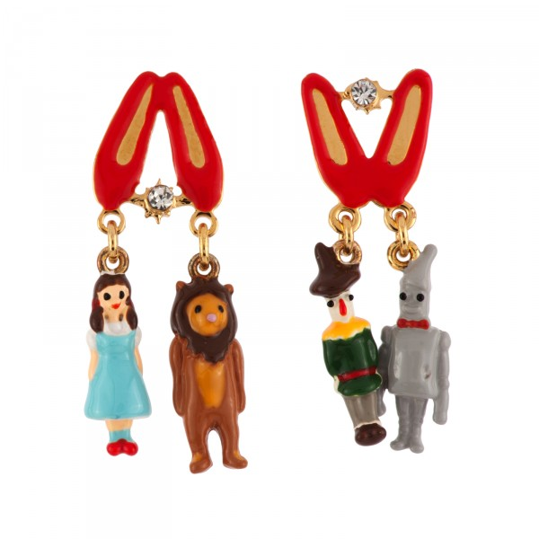 600x600 Miniatures Of The Wonderful Wizard Of Oz's Characters Earrings