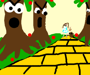 300x250 Angry Trees From Wizard Of Oz