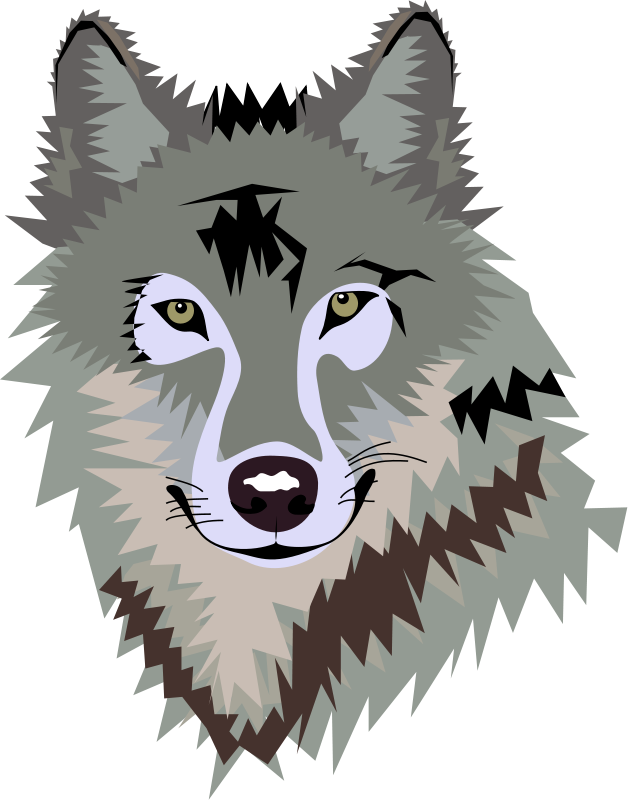 628x800 This nice wolf face clip art Clipart Panda