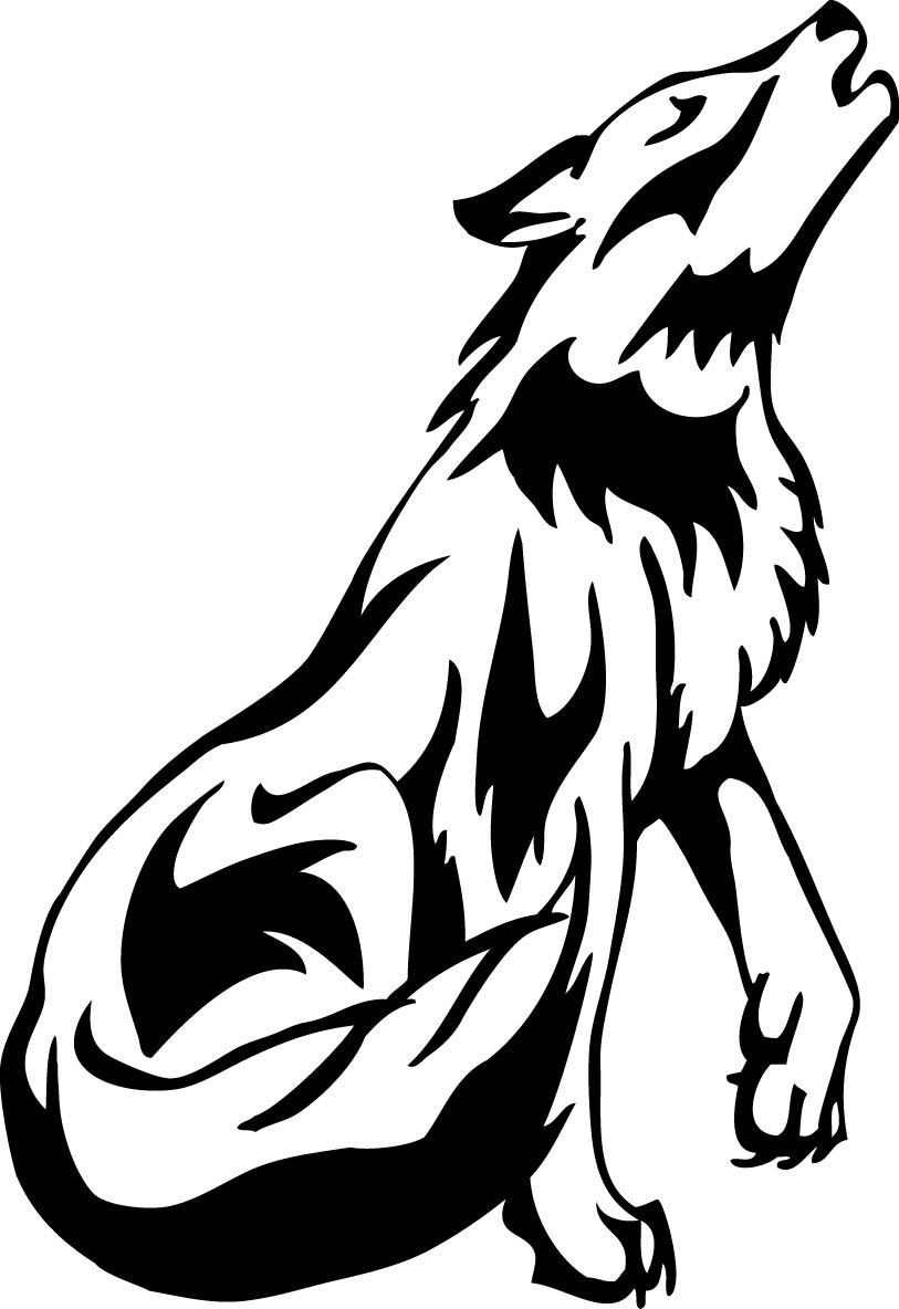 813x1184 Wolf Howling Clipart