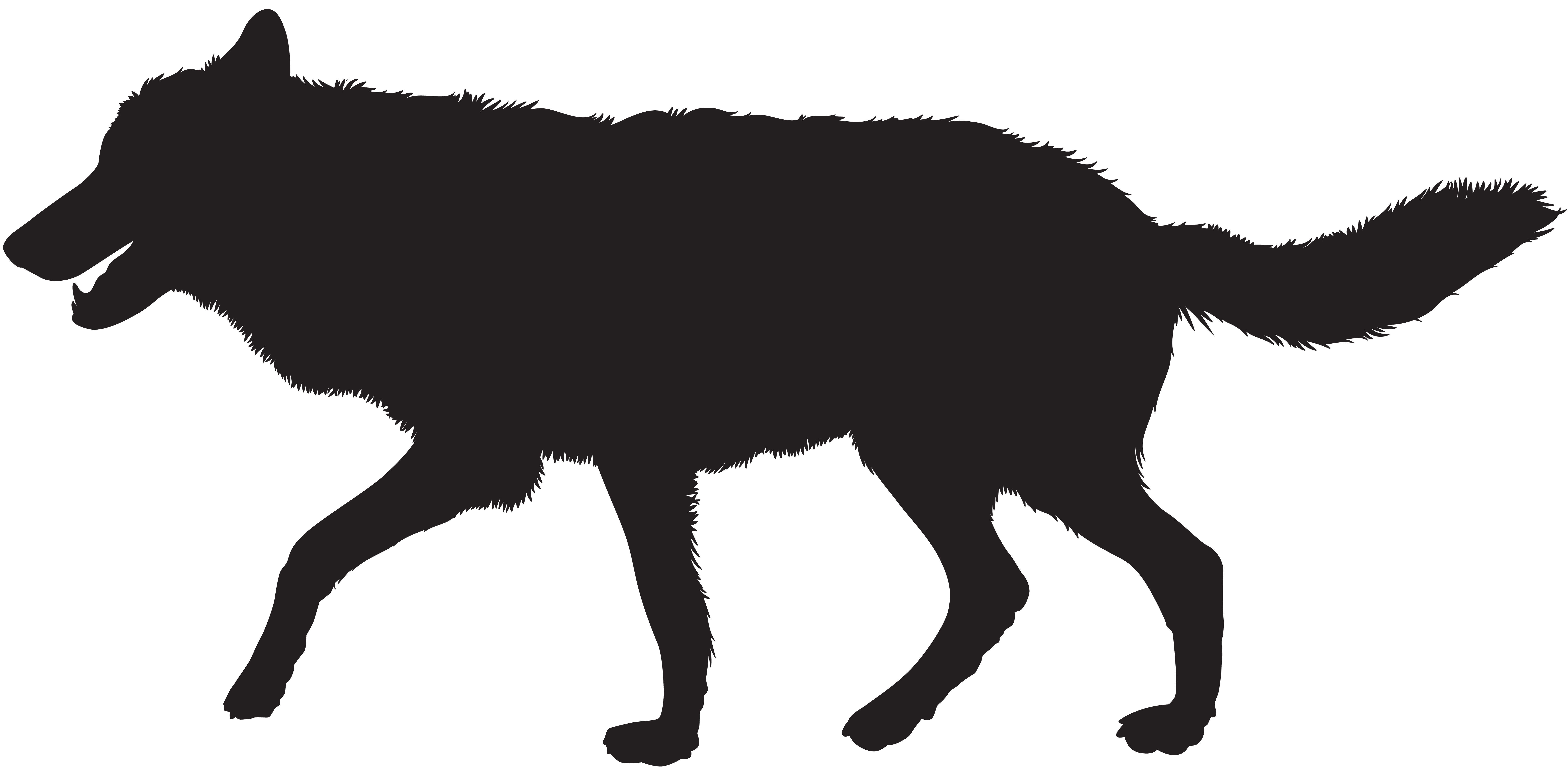 8000x3937 Wolf clipart silhouette