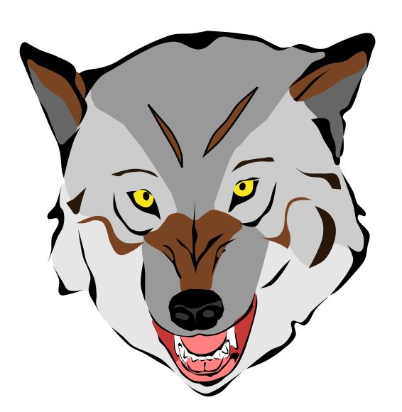 566x580 Free Wolf Clipart Image