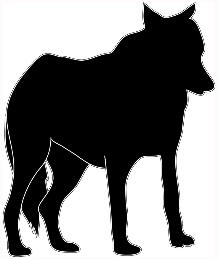 Wolf Clipart Black And White