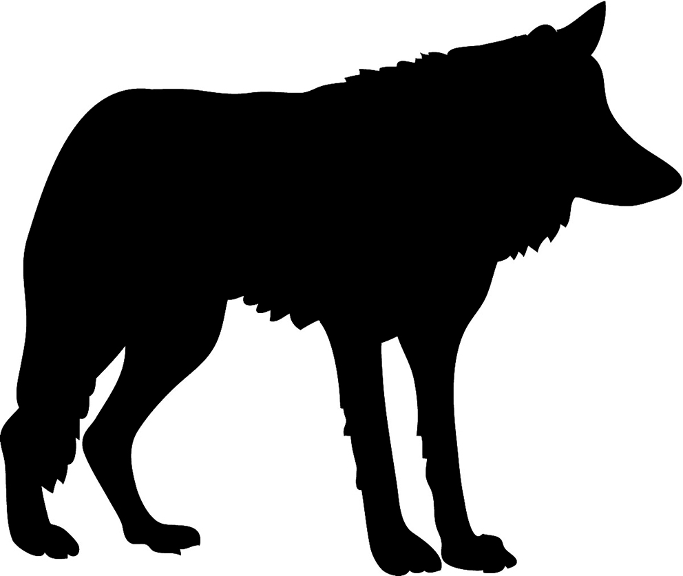 992x837 Black amp White Clipart Wolf Clipart Black and White Gallery ~ Free
