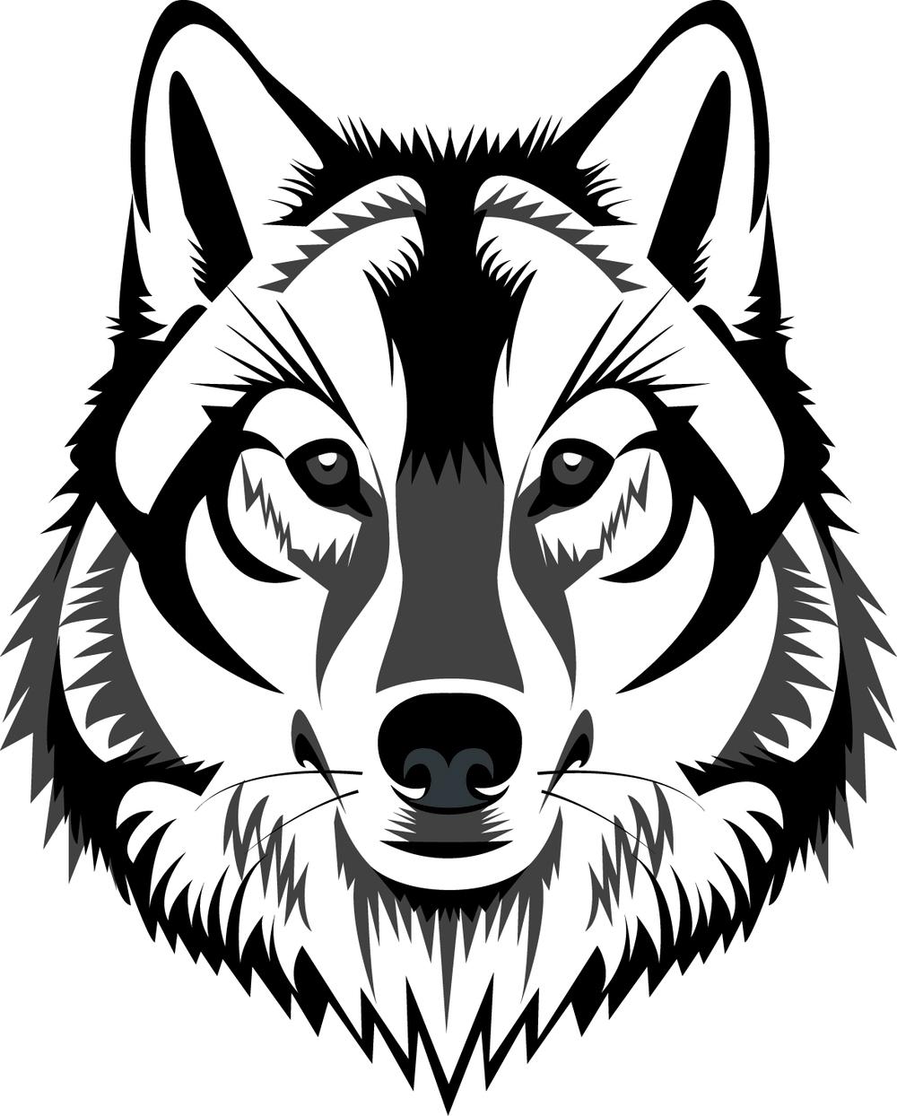 1000x1244 White Wolf Clipart Wolf Head