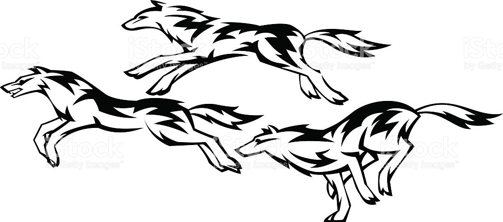 1024x453 Wolf clipart three
