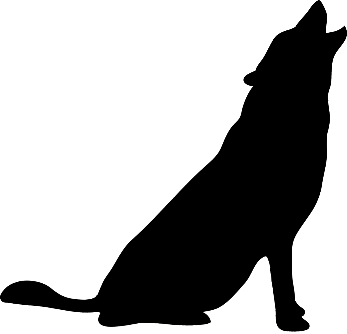 1200x1155 Free Wolf Howling Clipart Image