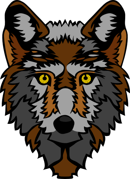 432x594 Stylized Wolf Head Clip Art Free Vector 4vector