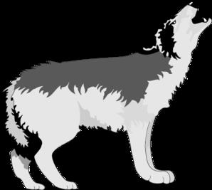 298x267 Wolf Howling Clip Art