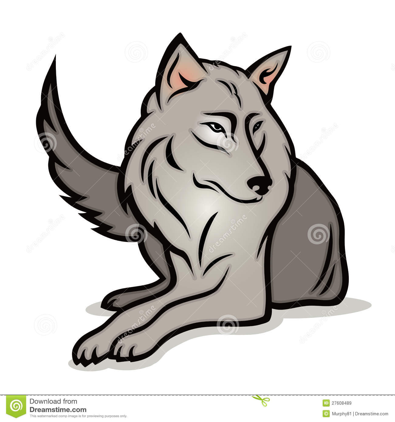 1300x1390 Cartoon Drawings Of Wolves Easy Wolf Drawings Free Download Clip