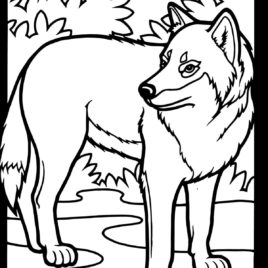 268x268 Coloring Page Of Wolf Kids Drawing And Coloring Pages