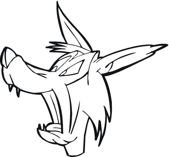 550x511 Wolf Coloring Pages Coloring Pages To Print