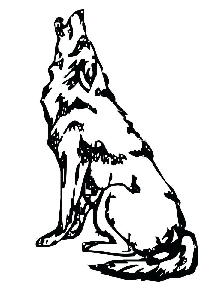 736x952 Cute Wolf Coloring Pages