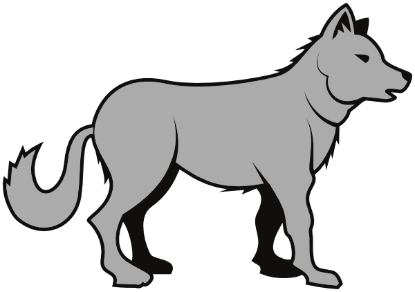 600x422 Clipart Of A Wolf