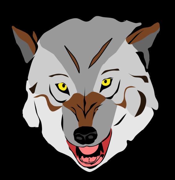 566x580 Free Wolf Face Clip Art
