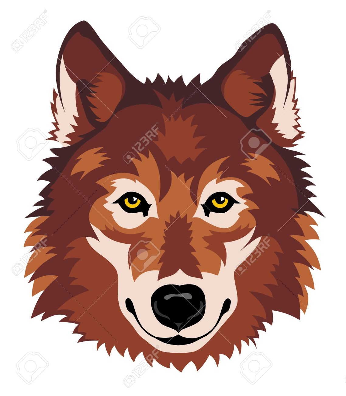 1138x1300 illistration clipart wolf head