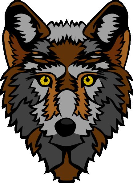 432x594 Stylized Wolf Head Clip Art