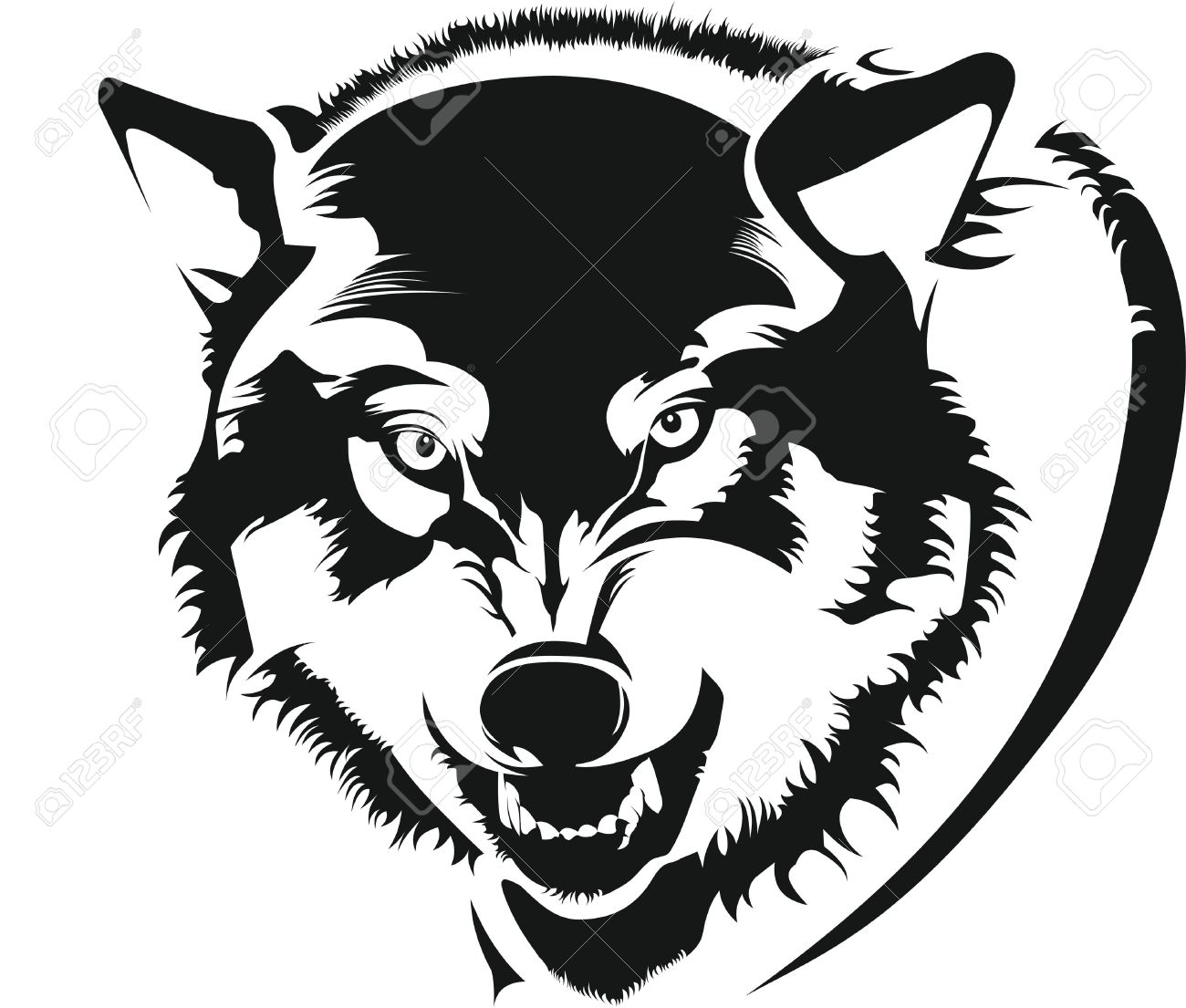 1300x1105 The Face Of A Wolf Royalty Free Cliparts, Vectors, And Stock