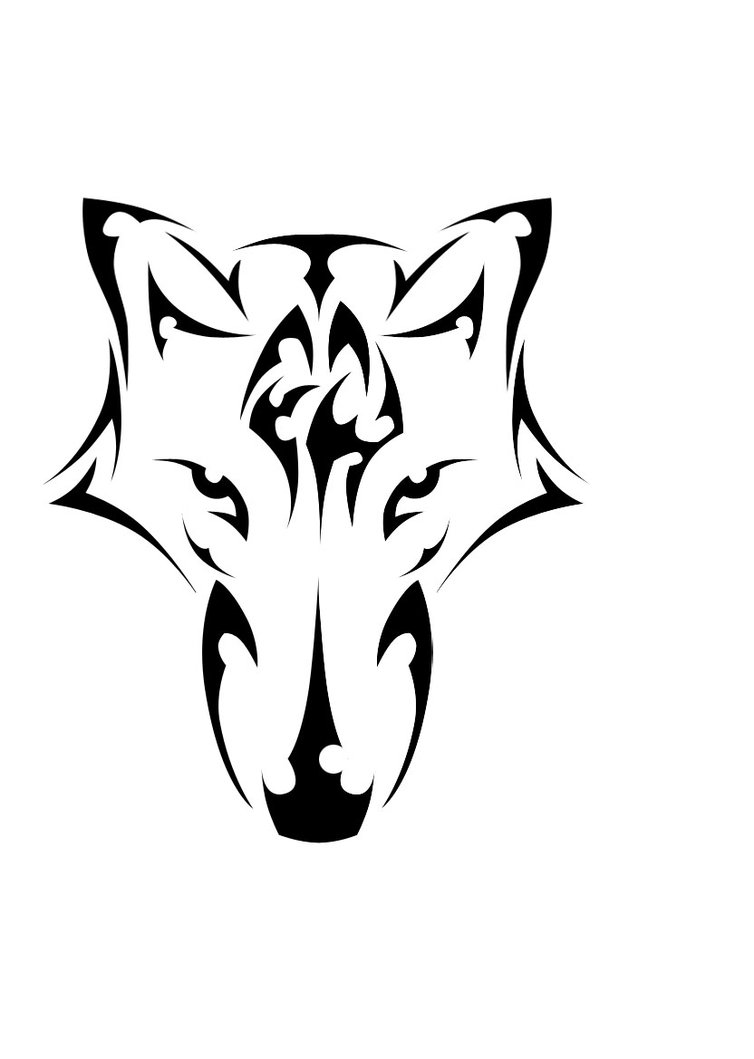 754x1059 Tribal Wolf Head By Reaver55666
