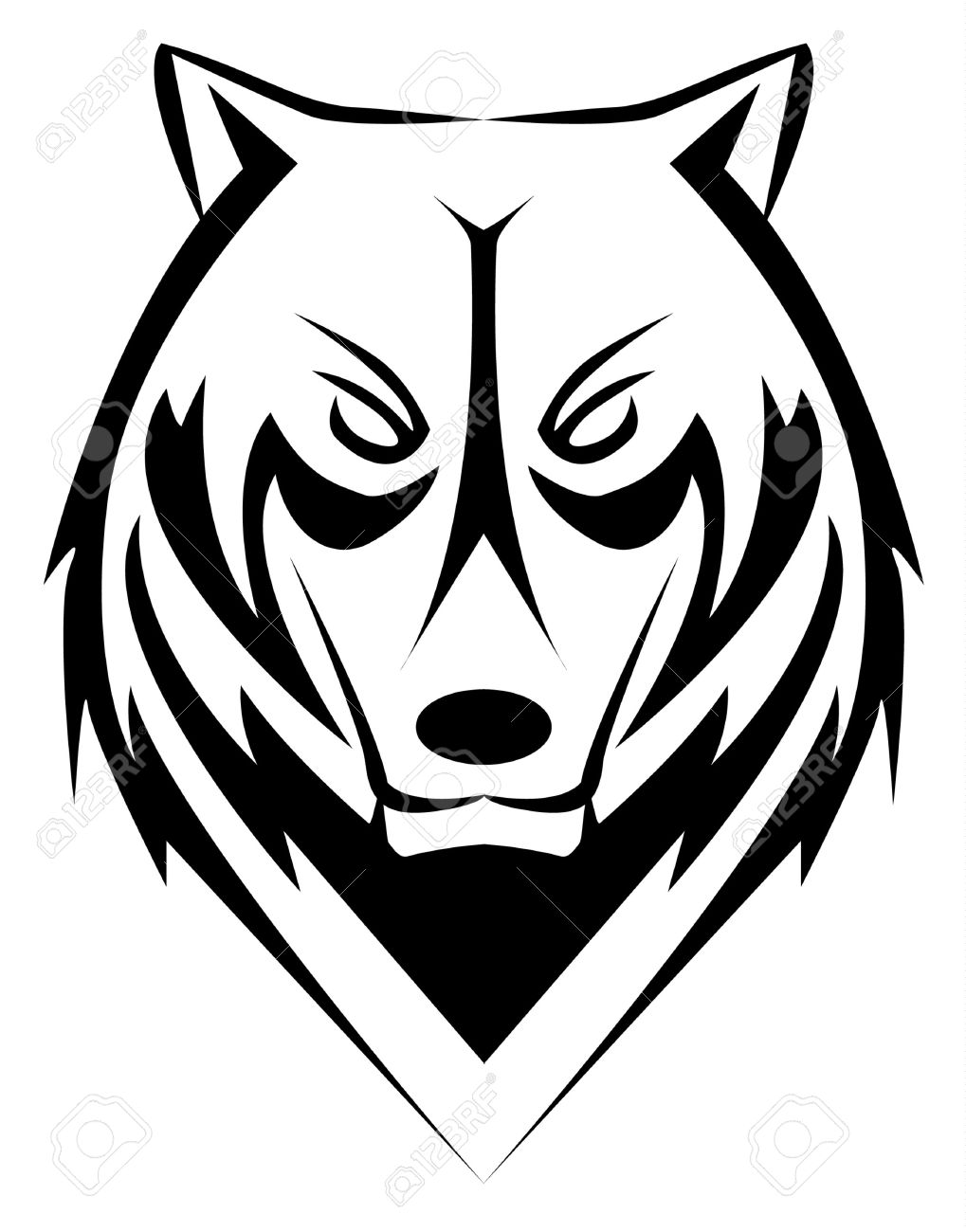 1019x1300 White Wolf Clipart Wolf Face