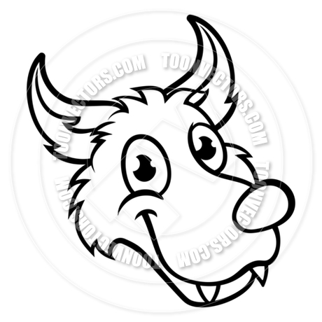 460x460 Wolf Cartoon Character Face By Geoimages Toon Vectors Eps