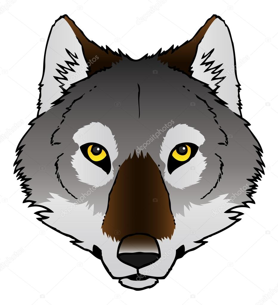 932x1023 Wolf Face Stock Vector Avelkrieg