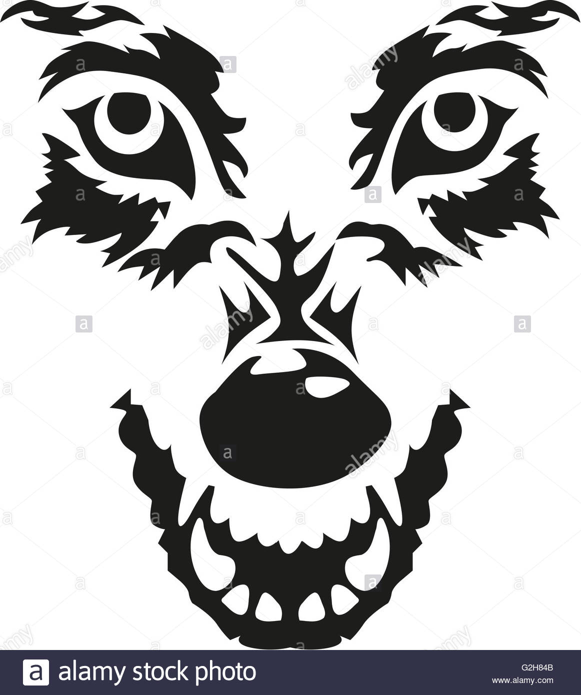 1162x1390 Angry Wolf Face Stock Photo, Royalty Free Image 104871099