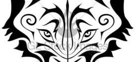 272x125 Howling Wolf Head Silhouette Clip Art
