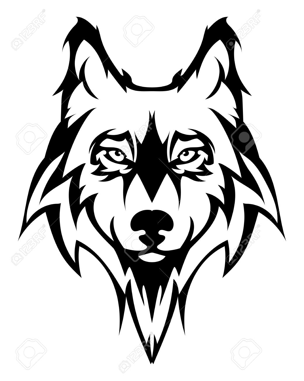 1040x1300 Wolf Face Beautiful Wolf Tattoo.vector Wolfs Head As A Design