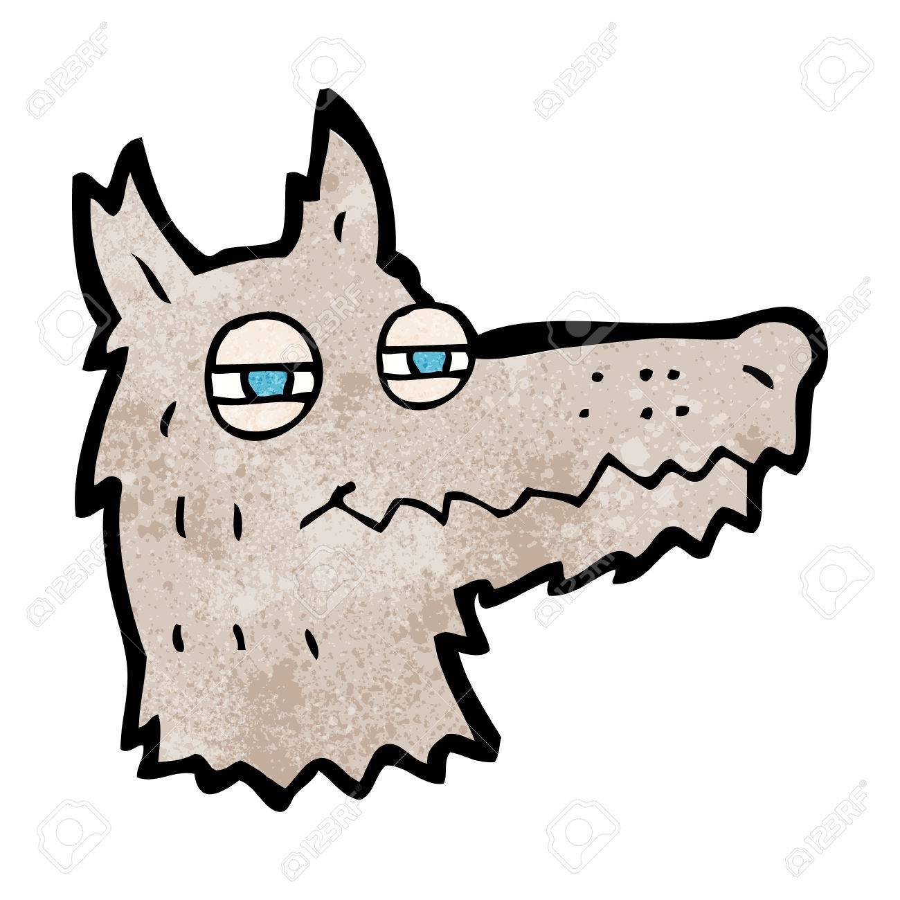1300x1300 Cartoon Smug Wolf Face Royalty Free Cliparts, Vectors, And Stock