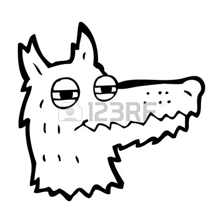 450x450 Cartoon Wolf Head Royalty Free Cliparts, Vectors, And Stock