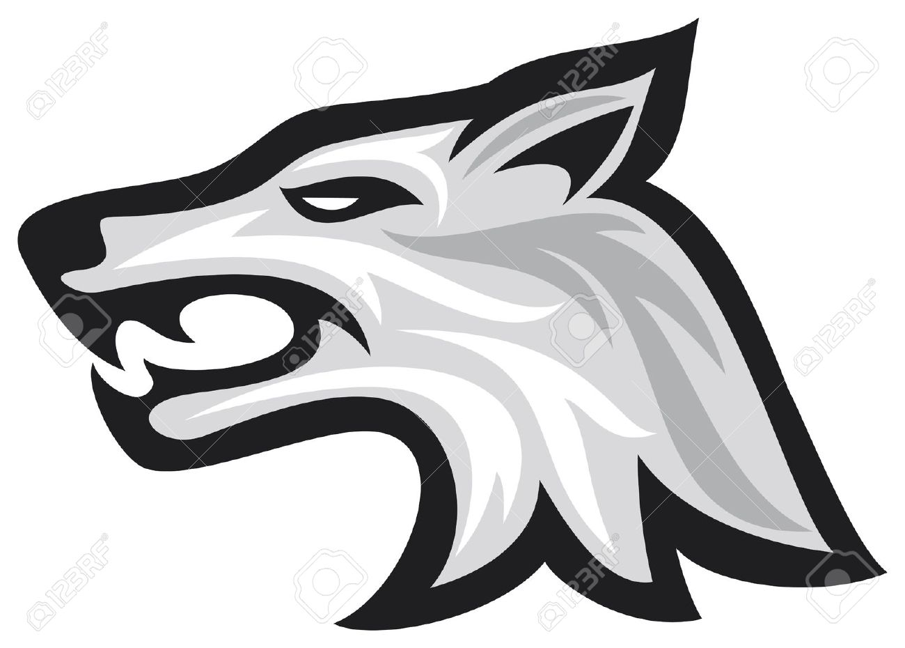 1300x930 Free Tribal Wolf Head Clipart