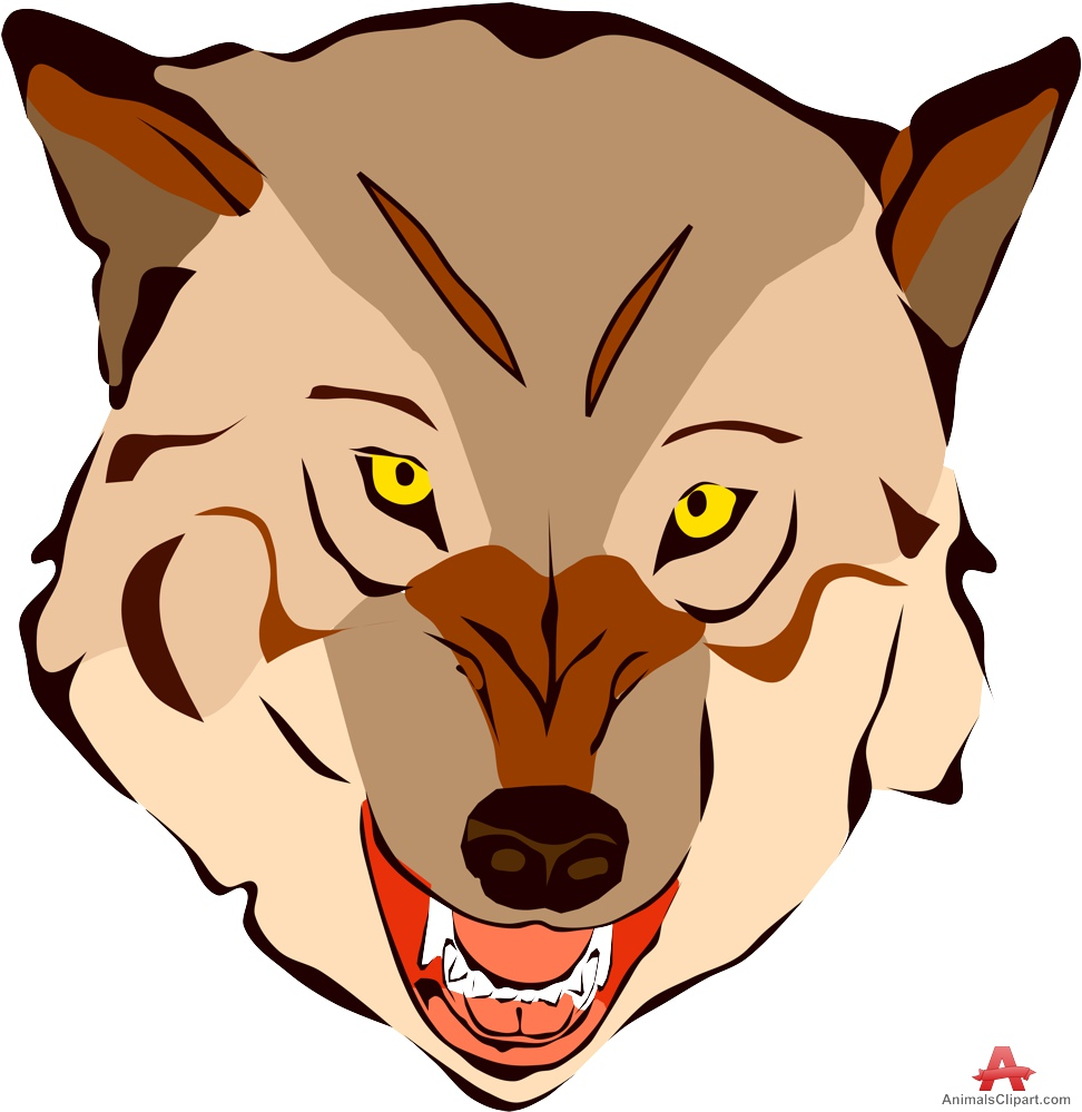 972x999 Snarling Wolf Head Clipart Free Clipart Design Download